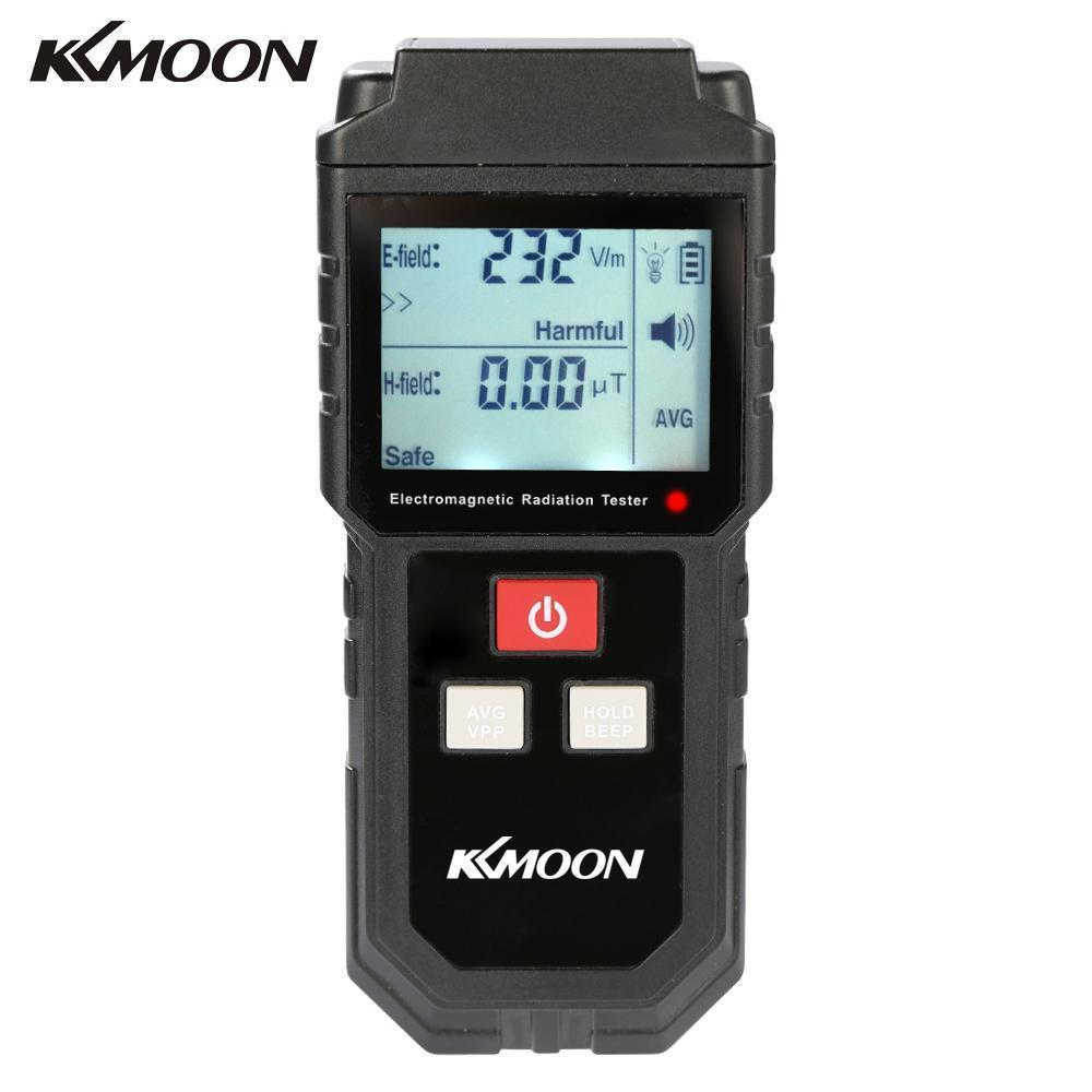 Portable Digital Lcd Electromagnetic Radiation Tester Electric Field Magnetic Field Dosimeter Detector With Sound Light Alarm T8190619