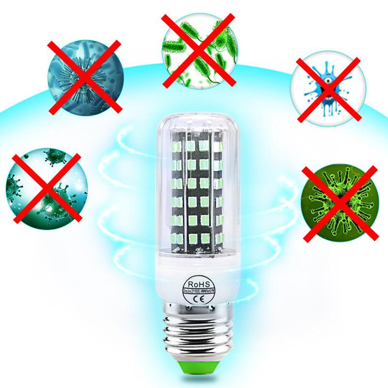 Sterilizasyon lambası UVC 110V 220V 72LEDs E27 GU10 112LED E14 ampul ozon dezenfeksiyon UV lamba mısır lamba dezenfeksiyon ışık 1 adet