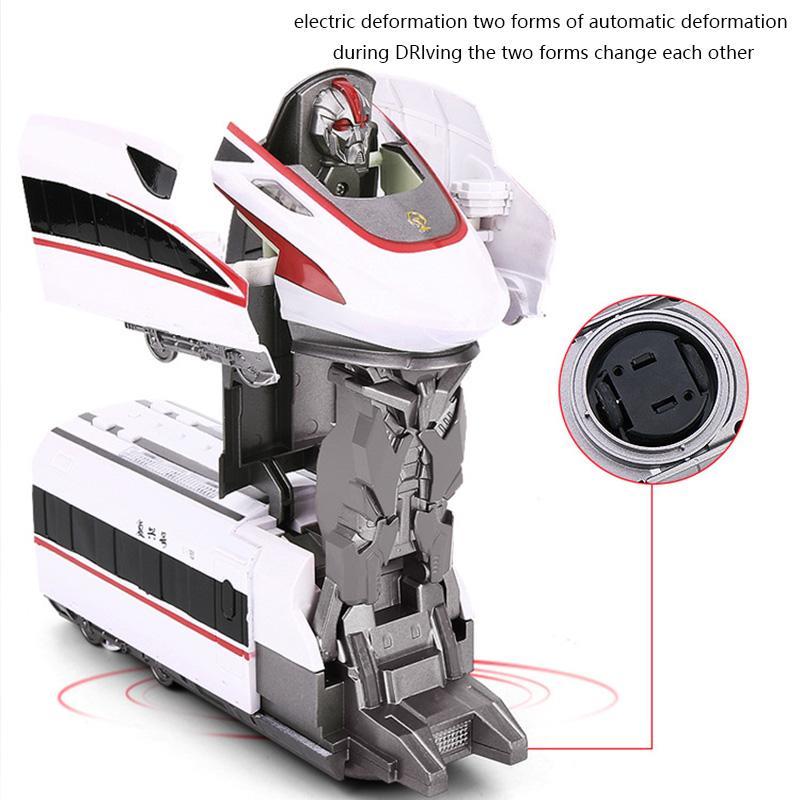 Çocuklar DIY eğitim için Yeni Elektrikli Evrensel Deformasyon Araç Fuxing Tren Oyuncak Hediye Robot Noel hediyesi çocuk