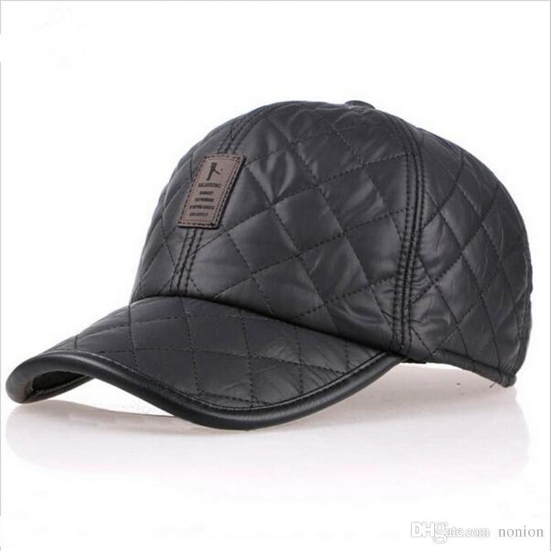 Высокое качество 2016 бейсболка мужчины осень зима Мода Caps водонепроницаемой ткани Шляпы Толстые теплые наушники бейсболка 4 цвета