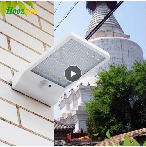 Flat Hood Human Body Induction Lamp Waterproof Led Light Solar Light Outdoor Solar Wall Lamp Garden Lawn Light