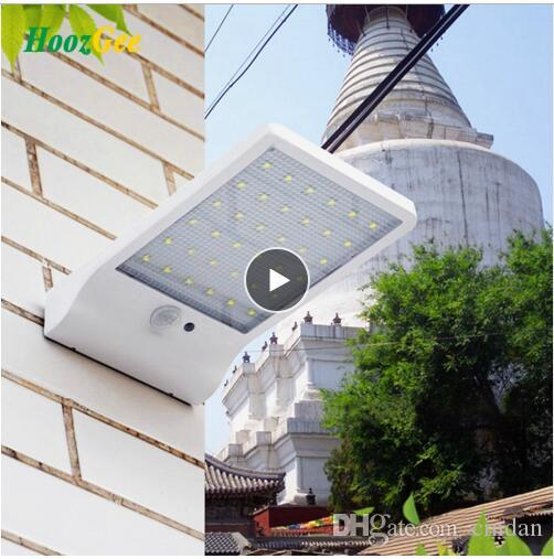 Wall Light 450LM Waterproof 36 LED Solar Power Street Lights PIR Motion Sensor Lamp Outdoor Garden Patio Security Lamps