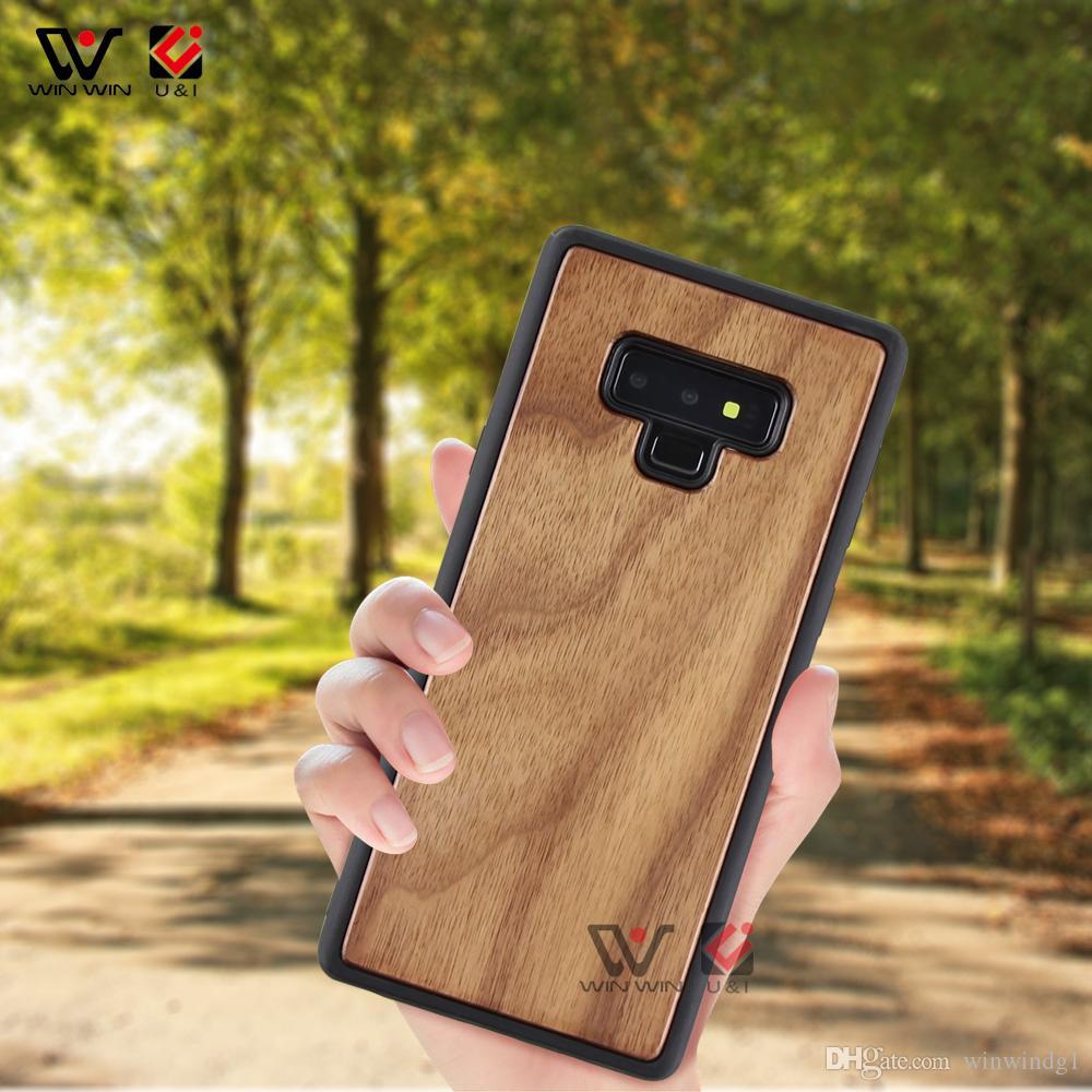 2019 뜨거운 판매 사용자 정의 로고 빈 나무 TPU 천연 나무 휴대 전화 케이스 삼성 S7 S8 S9 주 8 9