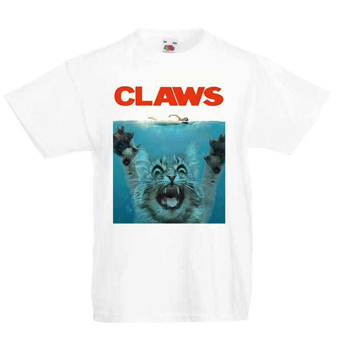 Claws Cat Jaws Parody Kitten Kid's T-Shirt Children Boys Girls Unisex Top metallica fan pants t shirt fear cosplay liverpoott tshirt