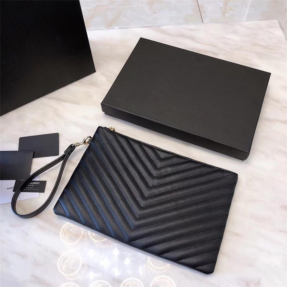 2020 أعلى 5A حقيبة يد محفظة الكلاسيكية أزياء السيدات حقيبة القابض جلد ناعم للطي حقيبة يد رسول حقيبة fannypack الأسود مع مربع بالجملة