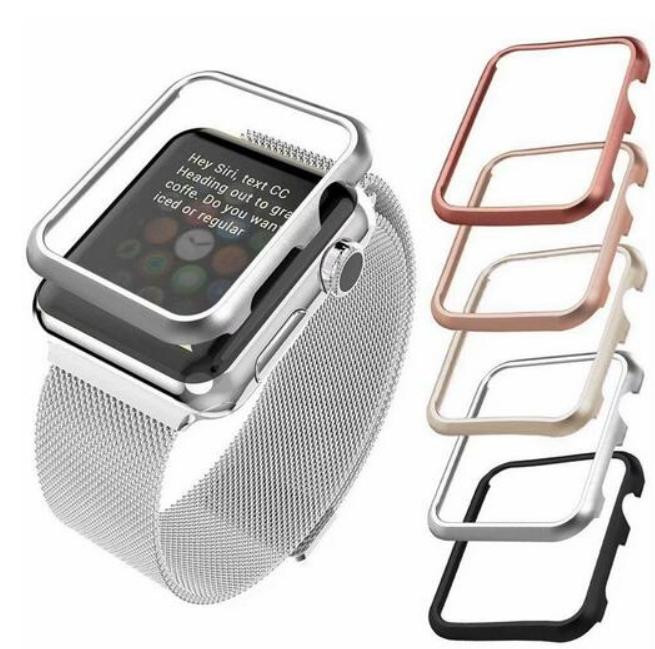 Luxury Metal Cover For Apple Watch Series 4 5 6 SE Case 40mm 44mm Aluminum Bumper For 42mm 38mm iWatch 1 2 3 Protective Case