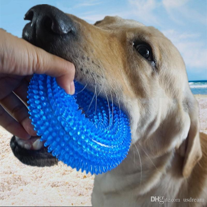Bite Training Sound Ring Rubber Chew Dog Toys Dog Toothbrush Chews Toy Ring Pet Supplies Drop Ship 360057