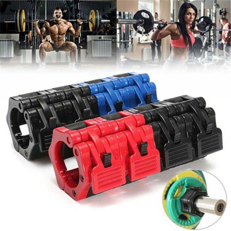 """1 Paar Olympic Hantel Langhantelstange Lock 2"""" Gewicht Schellen Halsbänder Fitnesstraining Bodybuilding 5CM Fitness"""