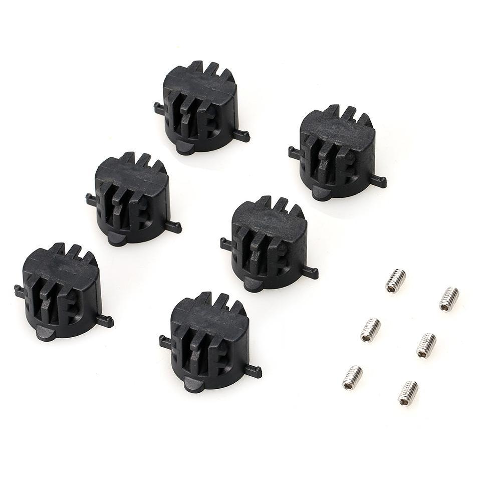 6 PCS Surfbrett Schienen Stecker FCS Fin Plugs mit 9MM Fin Schrauben FCS Leash Stecker