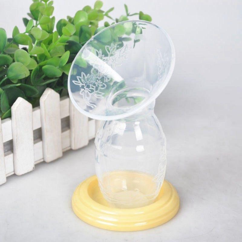 90ml Handmilchpumpen mute Melken Tragbare Baby Fütterung Silikon Brüste pumpen anti-Überlauf Muttermilch Sammler