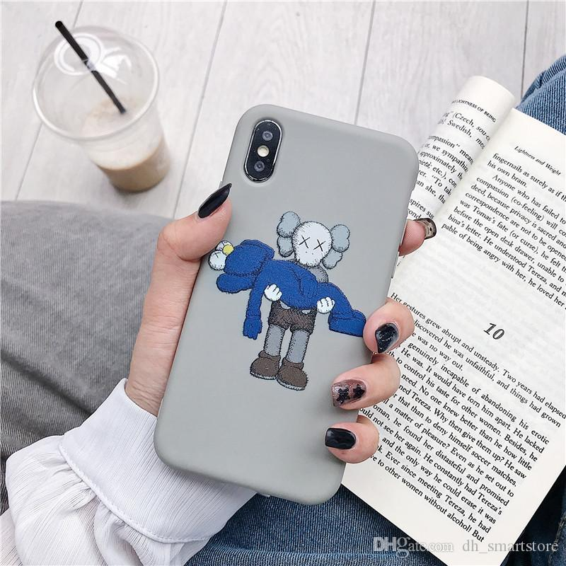 High quality Kaws Phone Case For Iphone 11 Pro X XS Max XR Soft Silicone Phone Cases For Apple iphone 6 7 8 6s Plus Soft Fashion Brand Cover