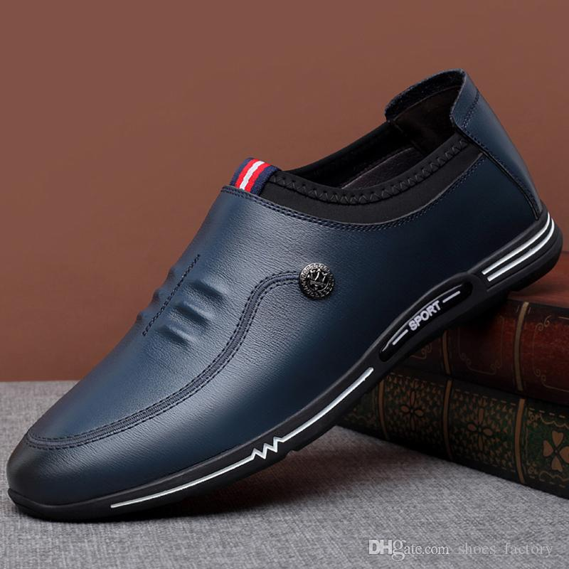 size597 New Arrived Wedding and Party Shoes New Fashion Leather Men Shoes Moccasin Men Loafers Brand shoes embroidery fashion for men leathe