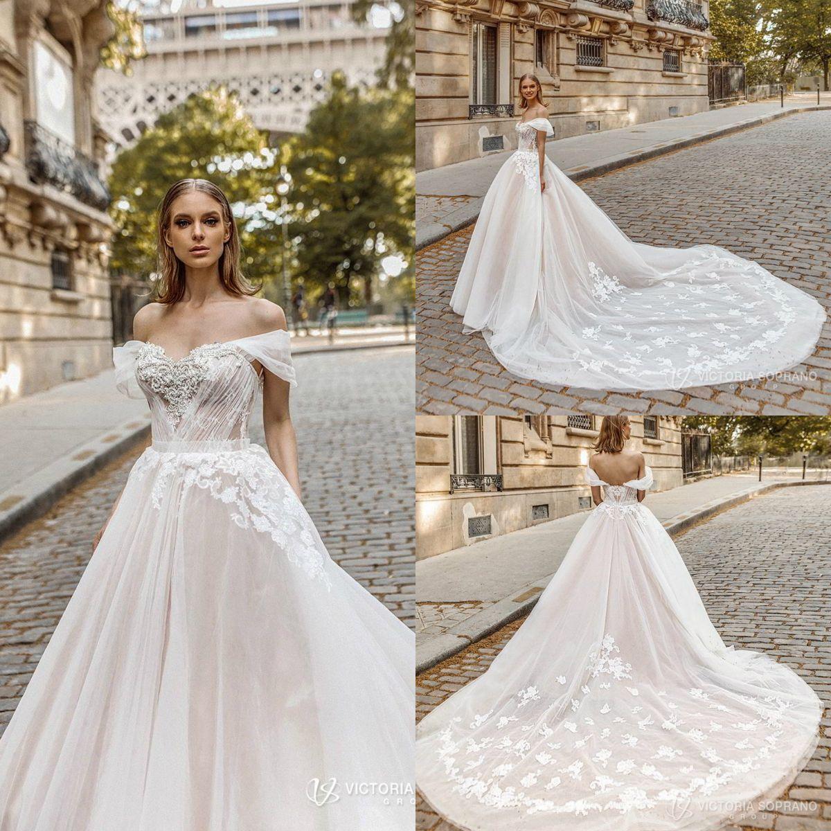 Discount Victoria Soprano 2019 Wedding Dresses Off Shoulder Lace