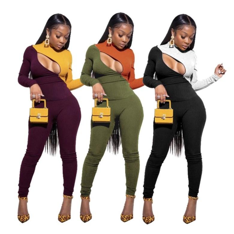 Womens sportswear long sleeve hoodie outfits 2 piece set jogging sport suit sweatshirt tights sport suit autumn hoodie sports suit klw3033