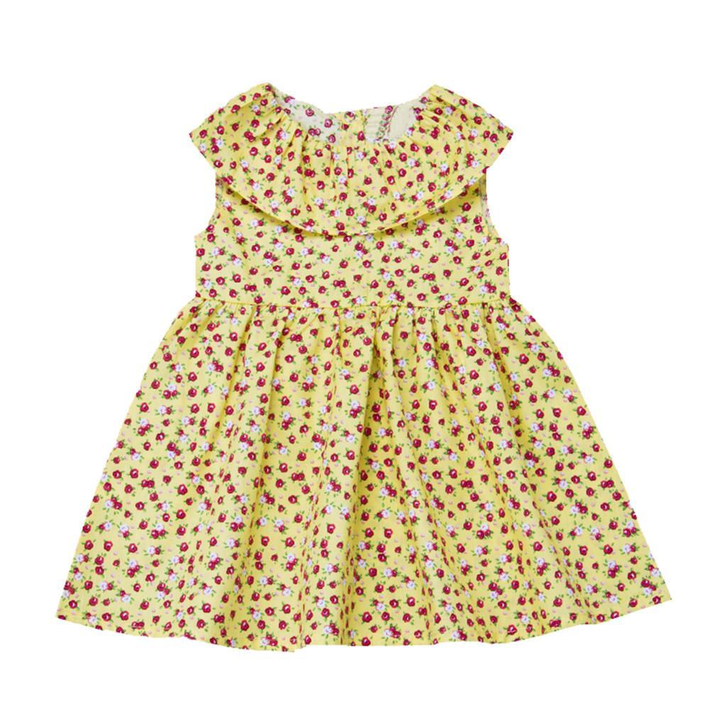 Verão Infantil Do Bebê Meninas Sem Mangas Floral Imprimir Vestido Roupas Vestidos Vestido de verão vestido de roupa infantil meninas