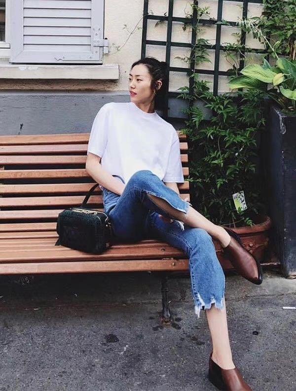 2019ss 패션 여성 슬릿 청바지 바지 ddxgz3 2.15