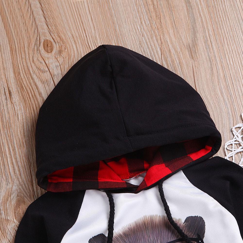 2019 Conjuntos de roupas de bebê outono Bebés Meninos Roupa das crianças das crianças da manta Rato dos desenhos animados com capuz Roupa de inverno + calças compridas 2PCS Set Outfit