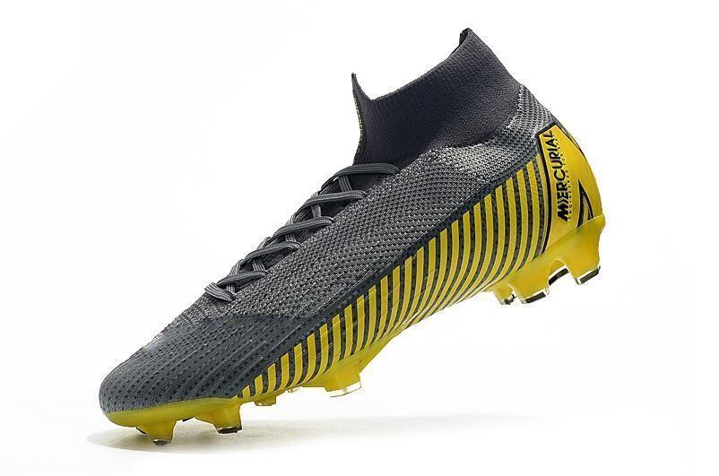 Sarı / Kırmızı 100% Orijinal Gri Altın CR7 Çocuk Futbol Cleats Mercurial Superfly Çocuklar Futbol Ayakkabıları Kadın Ronaldo Futbol Çizmeler