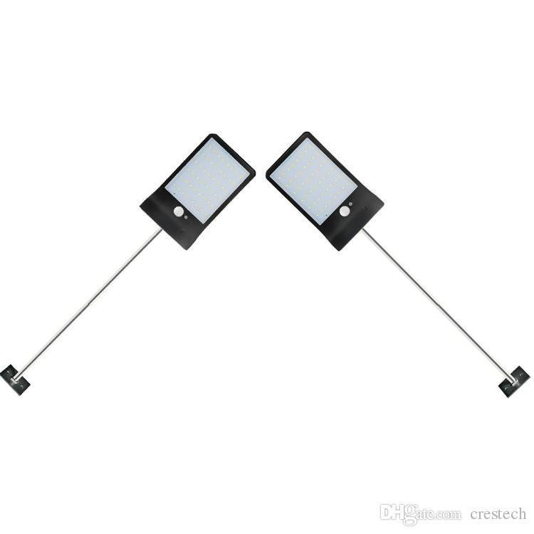 poste de aluminio 36 de la lámpara LED de Seguridad Wireless Solar Tres modos impermeable al aire libre Luz solar de iluminación para la casa de Wall Street Yard