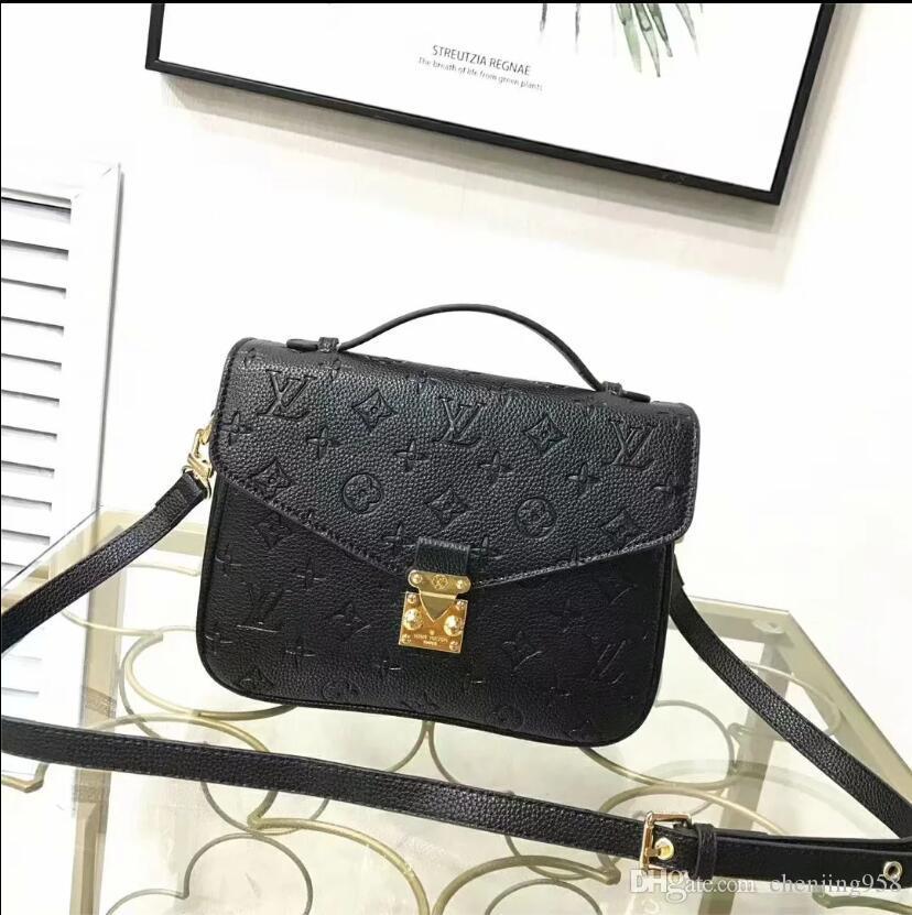2020 Estilos populares de cuero de alta calidad de las señoras bolsa de diseñador diseñador de la cadena bolsa de mensajero de las señoras del hombro A016 del bolso del bolso de la manera envía dorp