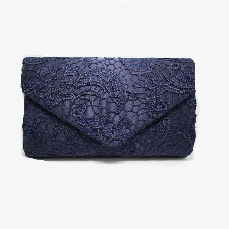 Evening Bags Lace Floral Day Pouch Lady Messenger Shoulder Bag Women Handbags Lace Clutch Party Bag