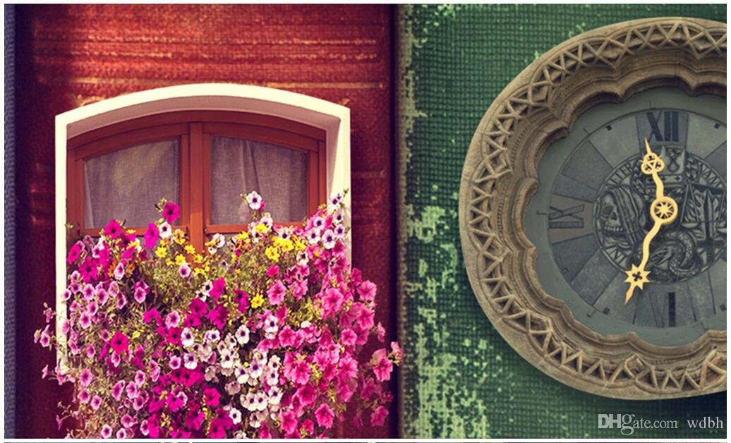 WDBH 3d Wallpaper Custom Creative Book House Book Background Lavender Manor Room Home Decor 3d Wall Murals Wallpaper For Walls 3 D Free