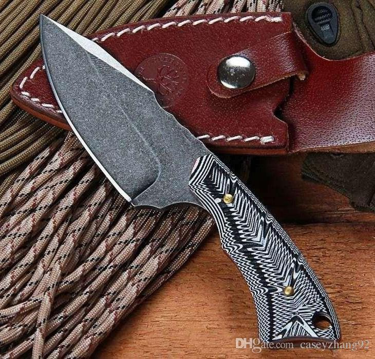 BOKE PE558 G10 Handle 58 Full Tang knife Camping survival hunting knives fixed multi tool outdoor gear tools knives High quality!