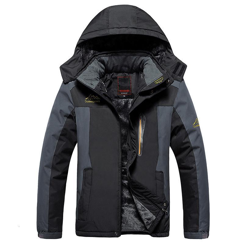 2019 Зимний руно Военный вниз пальто куртки мужчины ветрозащитный водонепроницаемый Outwear вниз ветровки Ветровка армии Дождевик SH190930