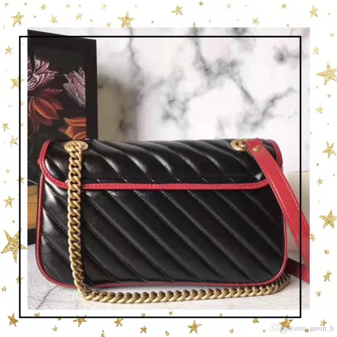 Freies Verschiffen Marmont Beutel Luxus-Handtaschen der Qualitäts-Dame Designer-Handtaschen weich echte Kuh-Leder-Frauen-Schulter-Beutel