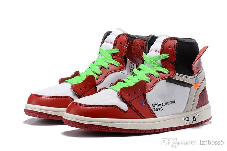nuova vendita OG 1 top 3 scarpe da basket 1s Omaggio To Home vietato Bred Chicago Royal Blue Shattered scarpe da ginnastica Tabellone passare il testimone Sport