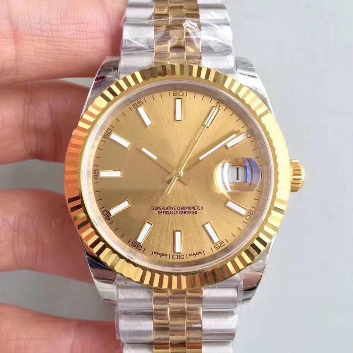 En İyi Kalite saatı 41mm Altın Paslanmaz Çelik 2813 Otomatik Mekanik Erkekler Erkek İzle Spor Kol saatı