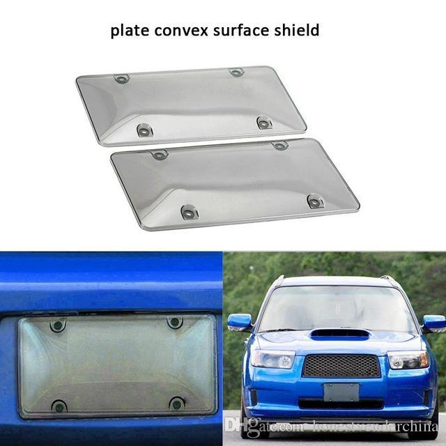 2 pçs / set Clear Carro License Capa Frame Frame Protetor de Licença Bubble Shields Proteção UV impede J3