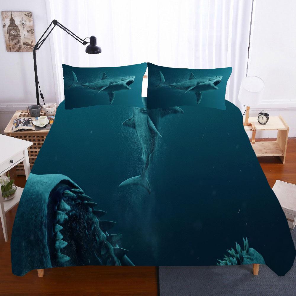 La literie 3D Meg King Size Home Textile Edredon Ensembles de literie 3D Housses de couette Draps de lit Oreillers, Linge de lit Beddingoutlet
