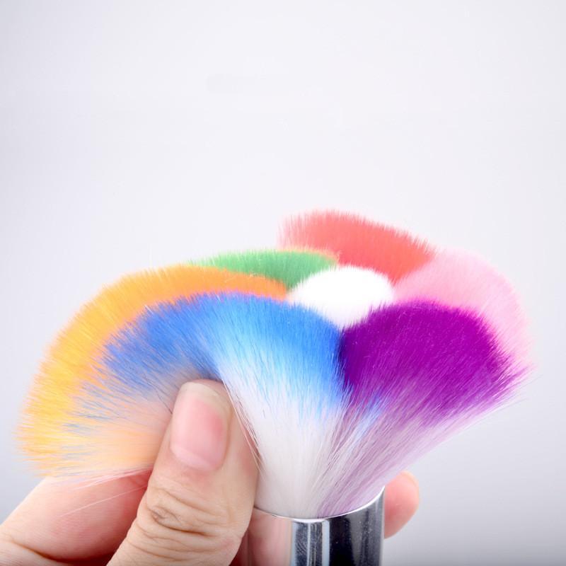 Cores Escova De Limpeza De Unhas Gradiente Poeira Pó Glitter Removedor Caneta Manicure Ferramentas Da Arte Do Prego