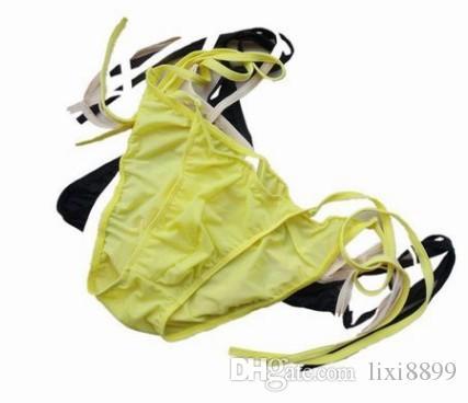 Atacado de alta qualidade baixo preço 3 pçs / lote acrílico fibras dos homens cuecas sensuais cueca (5.5 vbv