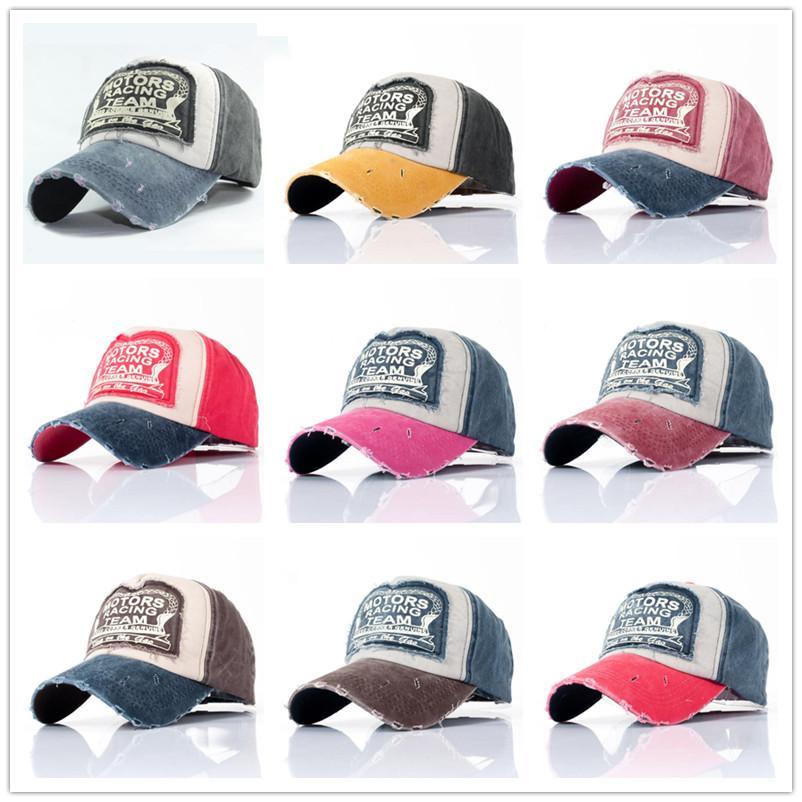 여러 가지 빛깔의 연삭 남성 여성 9 색상 도매 봄 코튼 캡 야구 모자 스냅 백 모자 여름 모자 힙합 장착 캡 모자