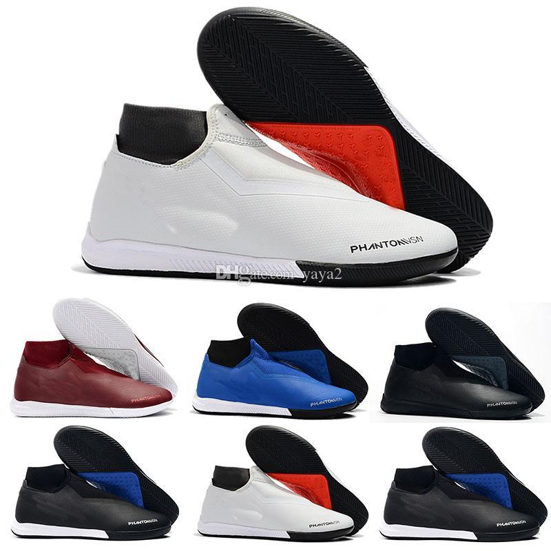 Cheap High Ankle Football Boots EA Sports Phantom Vison Academy DF IC TF Soccer Shoes Kids Superfly Phantom VSN Indoor Turf Soccer Cleats
