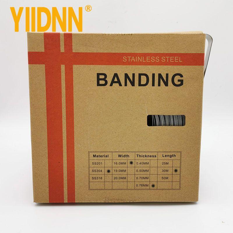 304 Stainless Steel Band Bobina Strapping, 5/8 '' Largura * 0,030 'thick, 100 pés rolo 16 milímetros * 0,76 milímetros * 30m