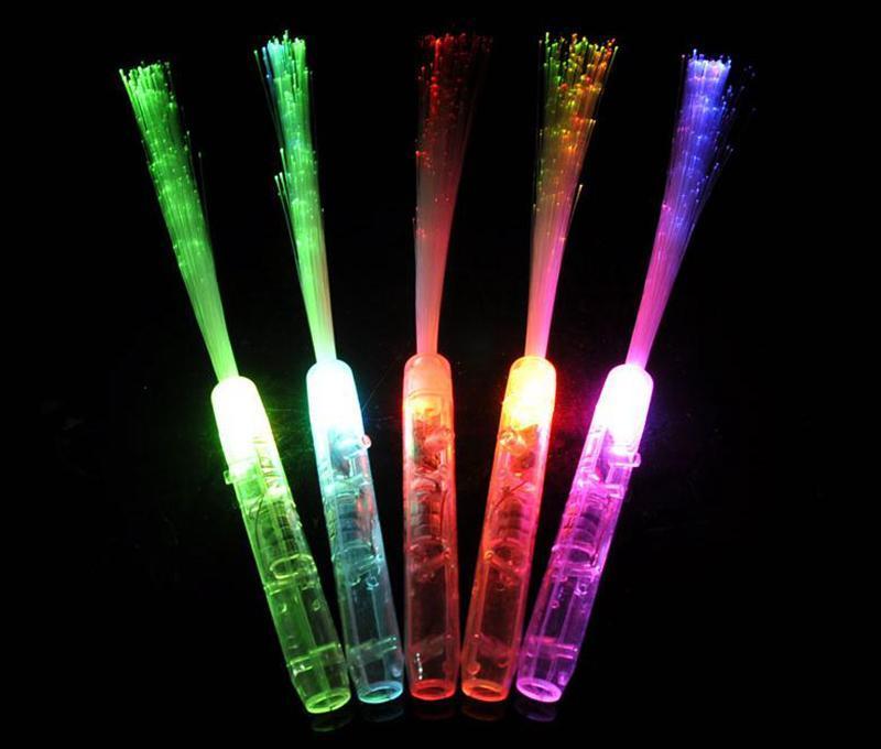 Piscando Suprimentos Concert Decoração Light-Up LED vara de fibra óptica do partido Festival da vara suporte do partido