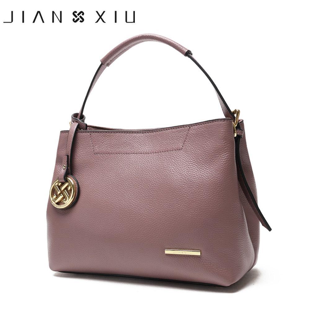 Jianxiu marchio di lusso borse borse donna designer in vera pelle nappa shoulde borse doppio zip compartimentato tote bag nuove borse Y19061903