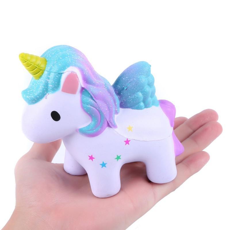Bambino giocattolo bello Crema profumata Unicorn lento aumento di compressione Anti Stress Peluches divertente gadget Kawaii