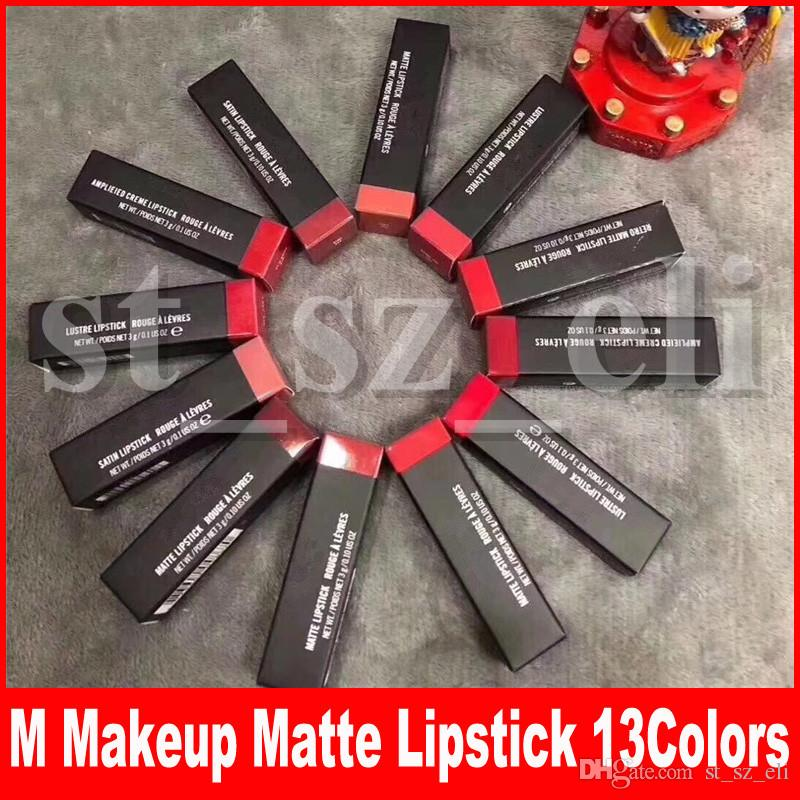 M Makeup Matte Lipstick Luster Retro Lipsticks Frost Sexy Matte Lipsticks 13 colors lipsticks with English Name