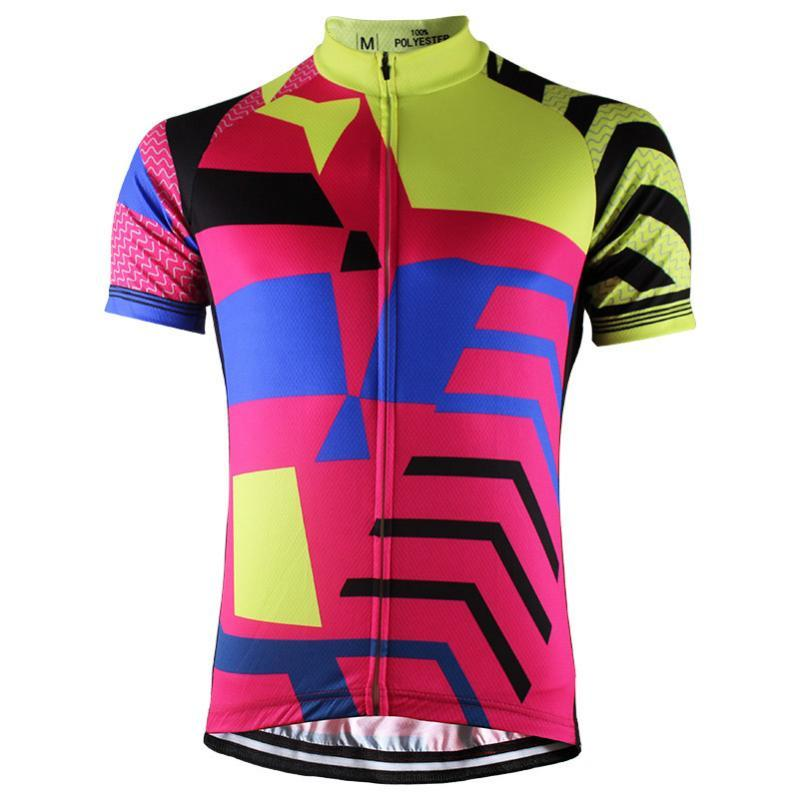 Shirt da bicicleta da HIRBGOD 2020 New Men Verão Red manga curta Ciclismo Jersey Top Outdoor MTB Mountain Cycling Roupa Maillot, HK062