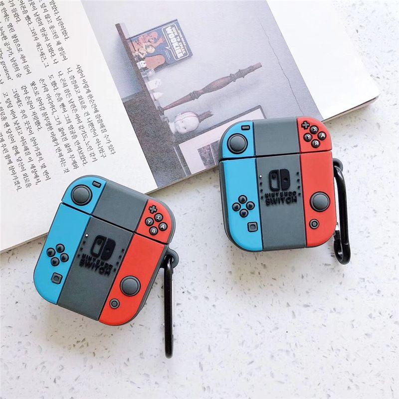 Для Airpods Case Silicone Милые 3D Игры Наушники Человек для AirPods 1 2 Чехол для наушников для Apple Air Pods Накрыть Наушники Carabiner