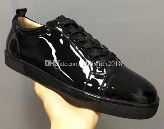 Fashion Men Black Patent Leather