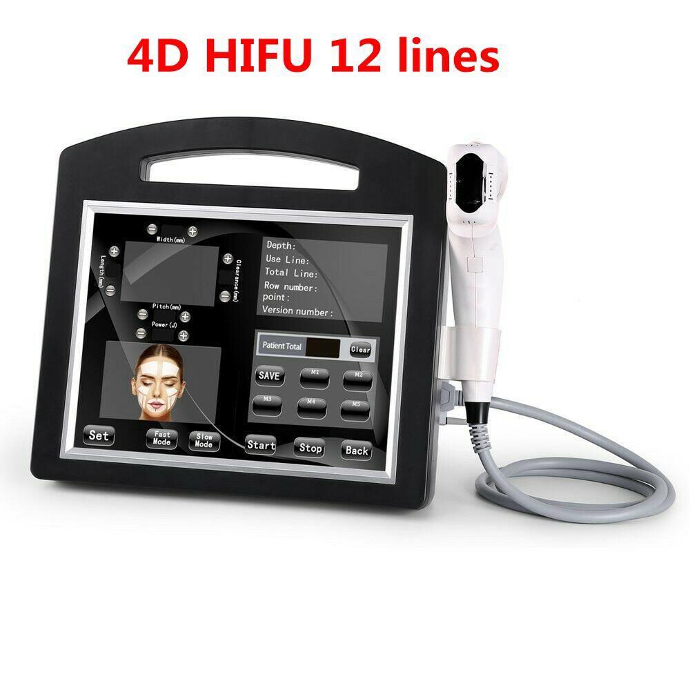 전문 3D 4D HIFU (12) 라인은 고강도 얼굴과 바디 바디 슬리밍 초음파 HIFU 페이스 리프트 기계 주름 제거를 집중