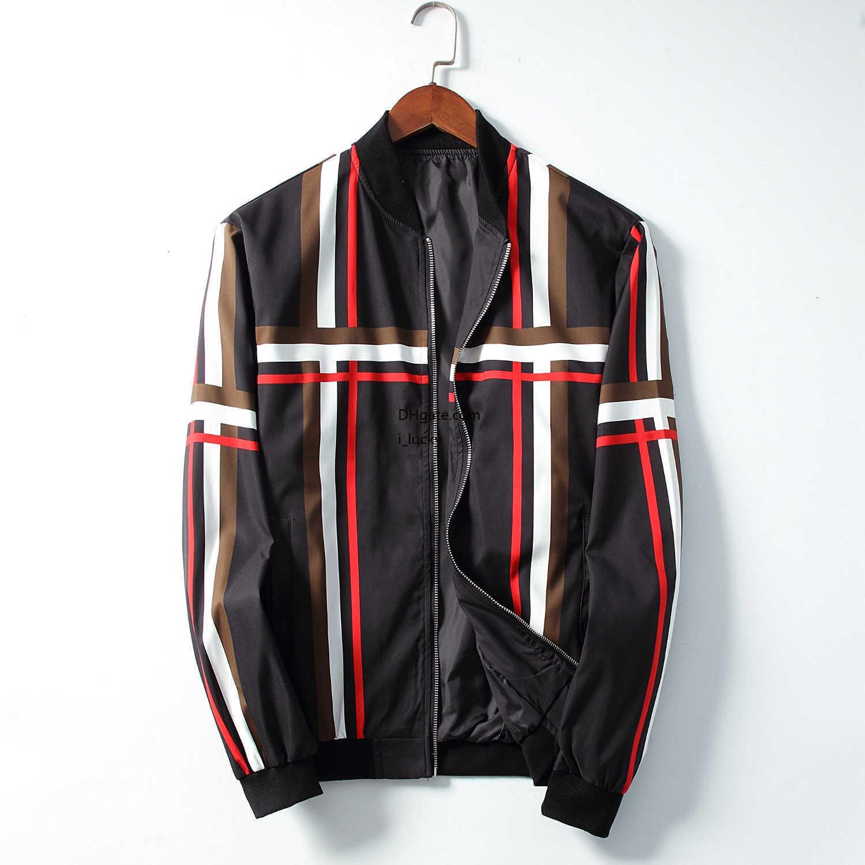 Мужчины куртка дизайнер простого полосатая симметричной ветровки мода Тонкой тенденция удобная куртка 2019 новый