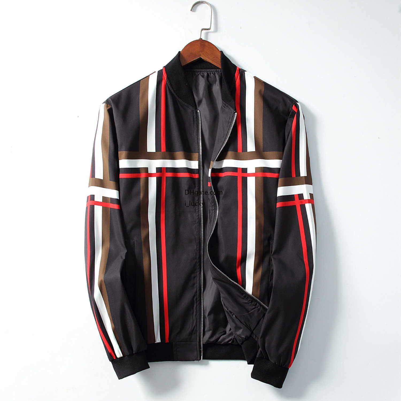 Erkekler ceket tasarımcı basit çizgili simetrik rüzgarlık moda İnce eğilim rahat ceket yeni 2019