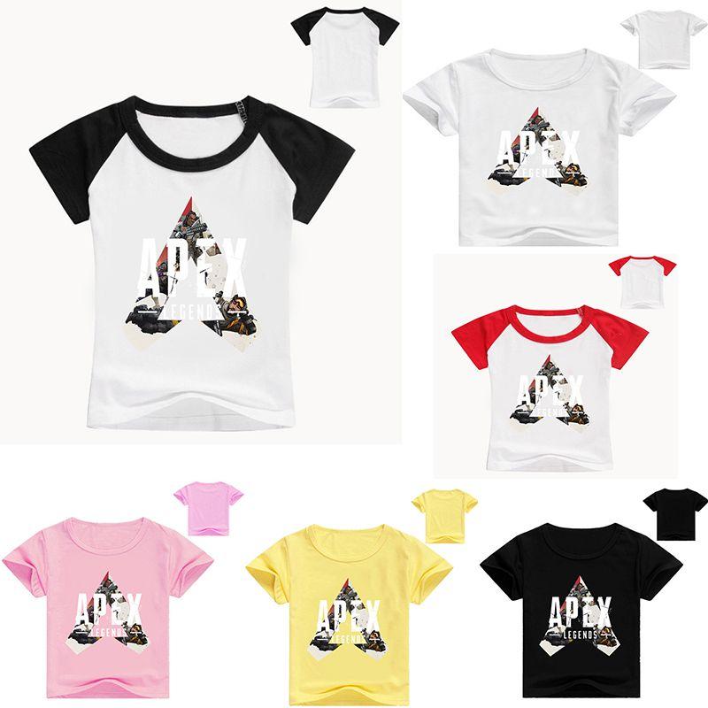 Apex Legends Kids T-shirts Children Boys 100% Cotton 11 style T-shirts kids designer clothes kids clothes 50PCS E95150