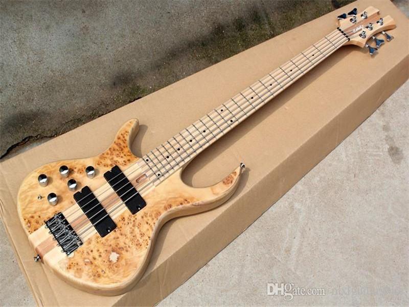 24 Fret, Sol 5 Dizeler Elektrik Bas Gitar Akçaağaç Klavarası, Boyun Thru-Body, 2 Pikap, Özelleştirilmiş Teklif